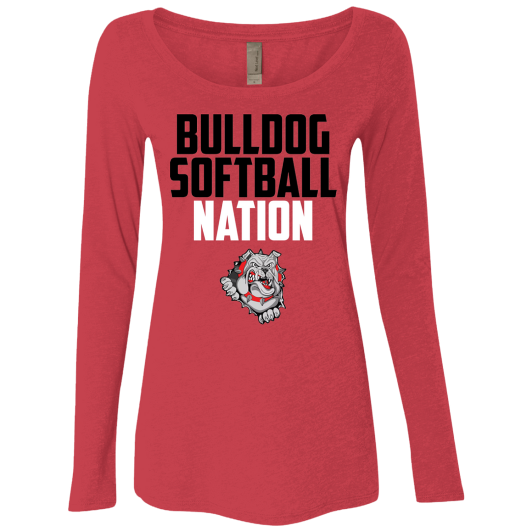 Lady Bulldogs Nation Ladies' Triblend LS Scoop