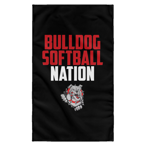 Lady Bulldogs Nation Sublimated Wall Flag
