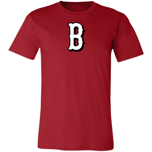 B Logo (white)  Jersey Short-Sleeve T-Shirt