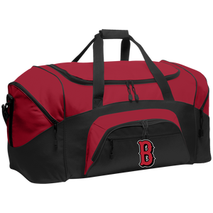 B (Red) Colorblock Sport Duffel
