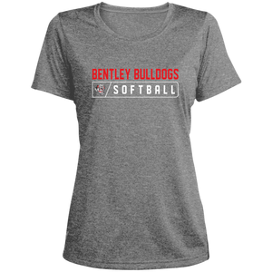 Lady Bulldogs Bar Logo (Red) Ladies' Heather Dri-Fit Moisture-Wicking T-Shirt