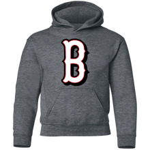 Load image into Gallery viewer, B Logo (white/red) Youth Pullover Hoodie