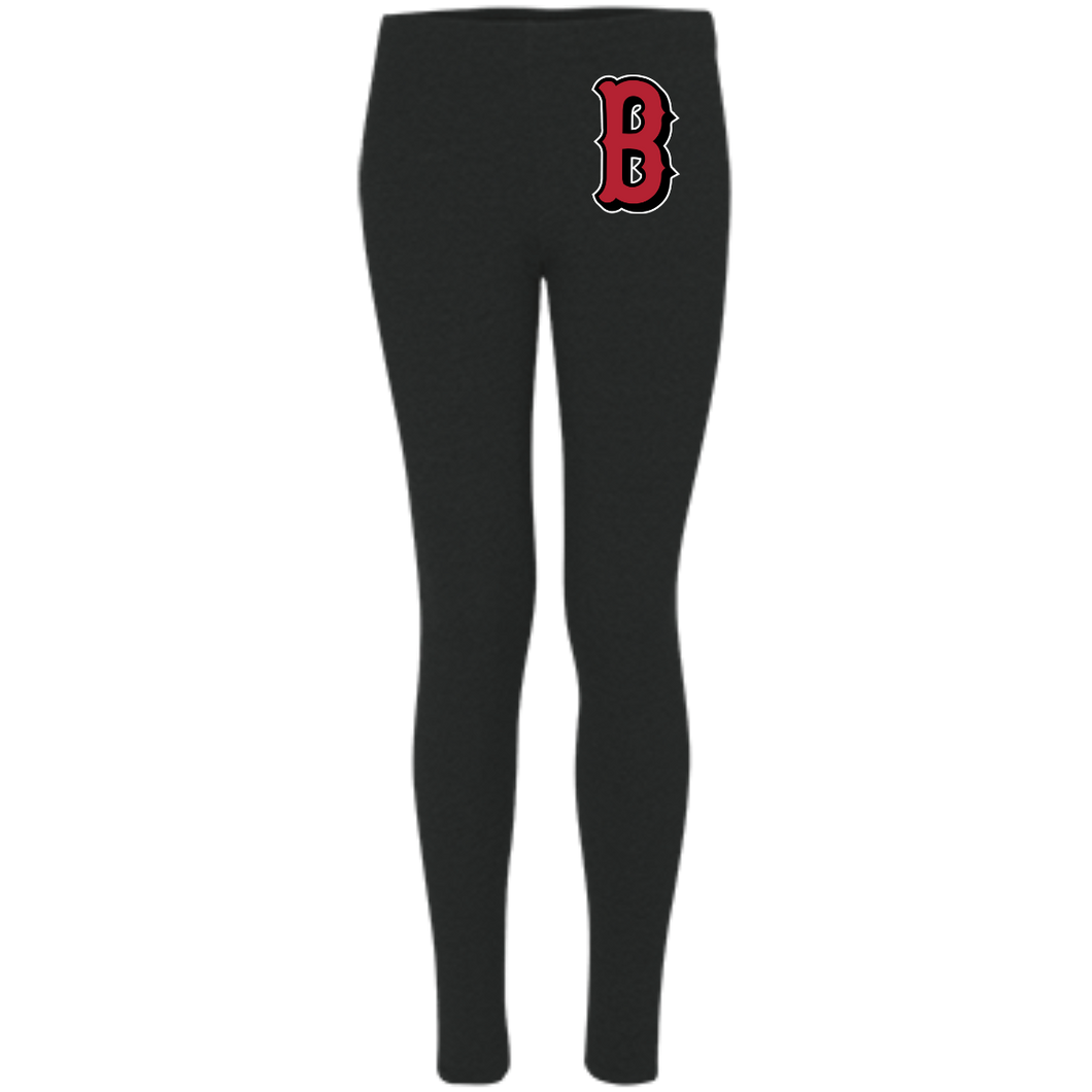 Lady Bulldogs B Logo (Red) Women's Leggings
