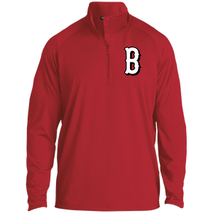 B (White) 1/2 Zip Raglan Performance Pullover