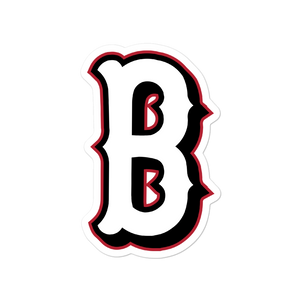 B Logo (White) Bubble-free stickers