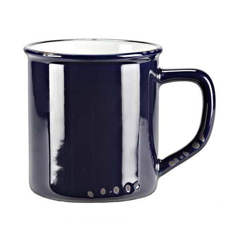 Navy Enamel Look Ceramic Mug
