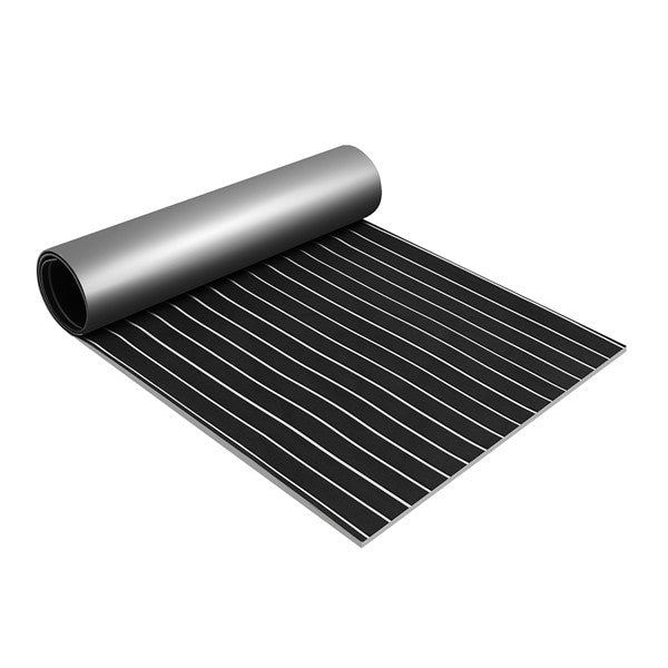 90x240cm Boater's Stuff™ Black/White EVA Foam Boat Flooring Sheet Yacht Synthetic Decking Pad