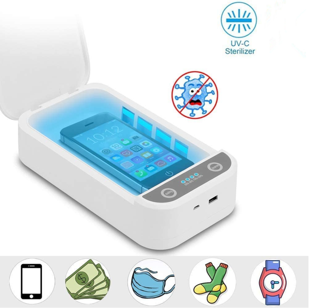 Sanitize Me™ Portable UV Light Cell Phone Sterilizer Toothbrush Disinfection Box Cleaners UV Light Sterilizer for iOS Android Smartphones