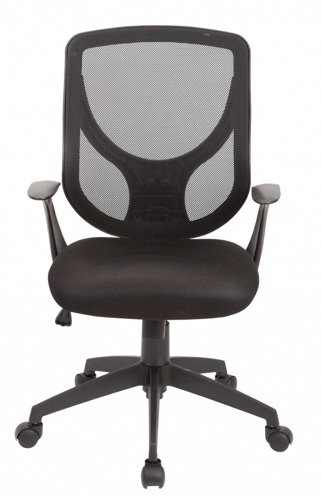 Homechairs™ Black Swivel Adjustable Workspace Office Comfortable Desk Chair with Mesh Seat and Back