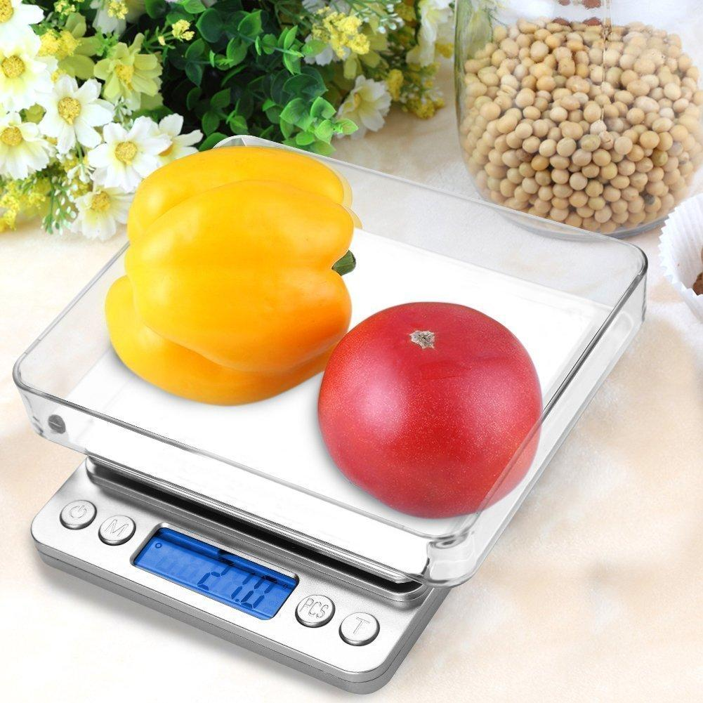 Kitchy Goods™ 3KG Digital LCD Electronic Kitchen Scale Best Diet Baking Cooking Food Weight Jewelry Scales