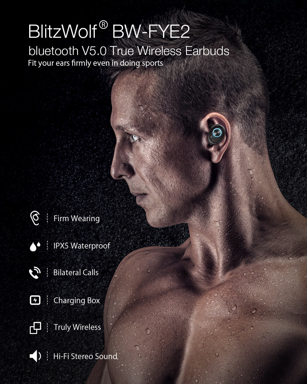 Itzbitz™ True Wireless bluetooth 5.0 Headphone  Best Earbuds Hi-Fi Stereo Sound Bilateral Calls Earphone