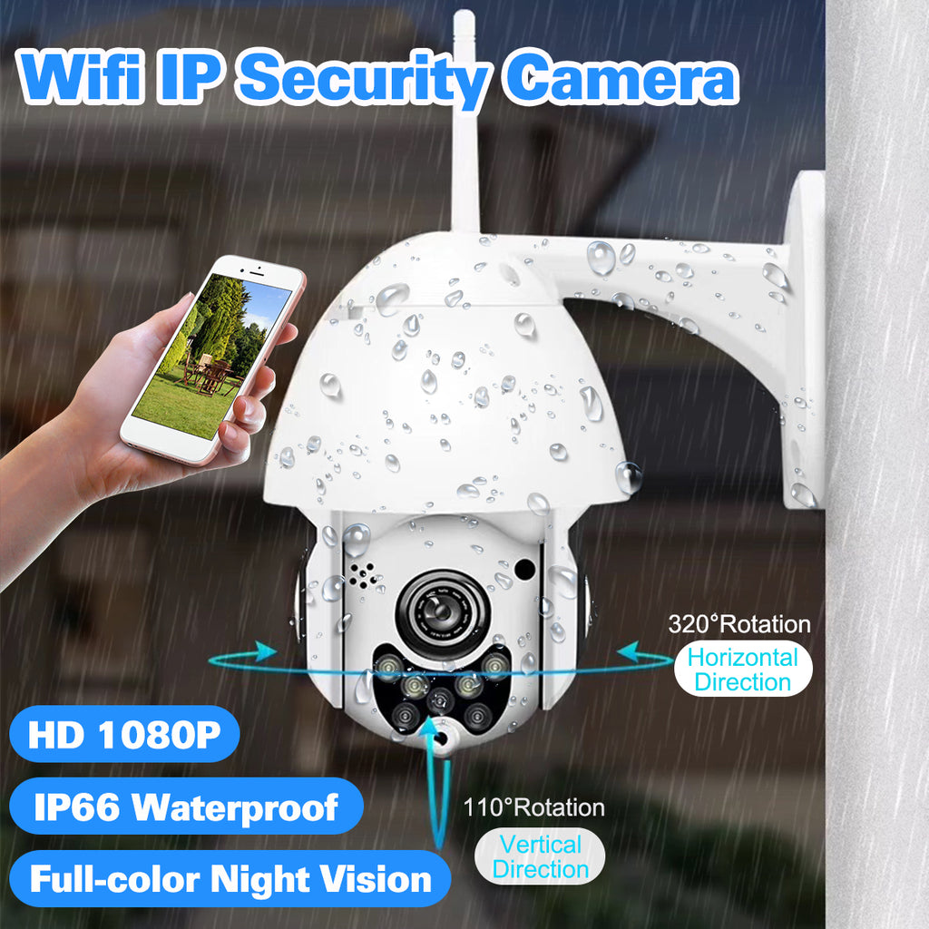 Secure You™ 1080P 2MP Wireless Waterproof WIFI IP Security Camera Intercom Night Vision CCTV ONVIF Protocol AP Hotspot - US Plug