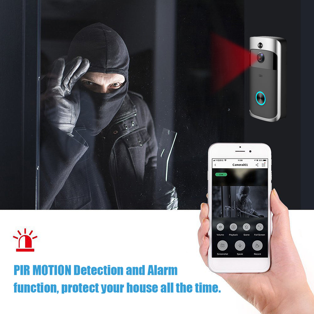 Secure You™ Wireless Camera Video Doorbell Home Security WiFi Smartphone Remote Video Rainproof