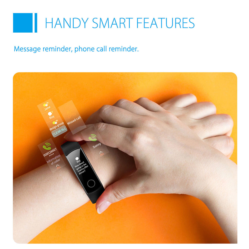 Honor One™ Band 5 Global Version Blood Oxygen Oximeter AMOLED Touch Screen Swim Detect Heart Rate Smart Watch - Black
