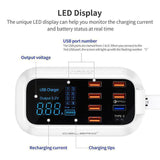 LED Display Multiple USB Charger with Smart Charging Technology