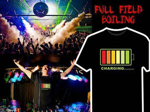 LED lights voice-activated music flash T-shirt