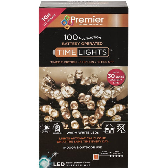 100 LED Battery Operated Timelights