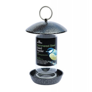 Hammered Steel Bird Feeders