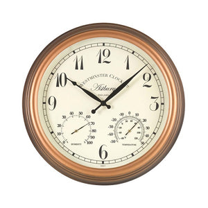 Astbury Wall Clock & Thermometer 12""