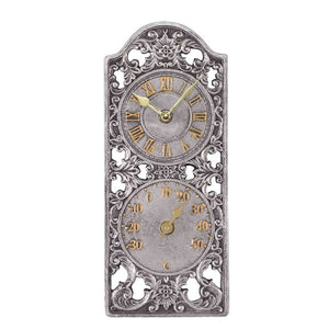Westminster Wall Clock & Thermometer 12""