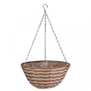 Faux Rattan Hanging Baskets