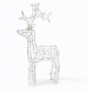 60cm Cool White LED Acrylic Reindeer