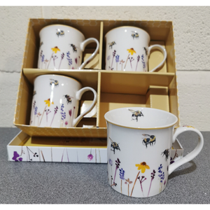 Busy Bee Set of 4 Mugs