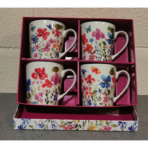 Butterfly Meadows Set of 4 Mugs