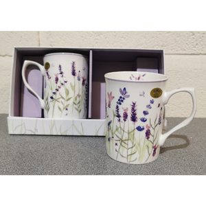 Lavender Set of 2 Mugs