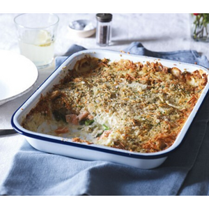Salmon And Asparagus Gratin For 2
