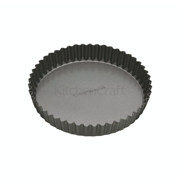 MasterClass Non-Stick 20cm Loose Base Fluted Quiche Tin