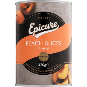 Epicure Peach Slices in Fruit Juice 410g