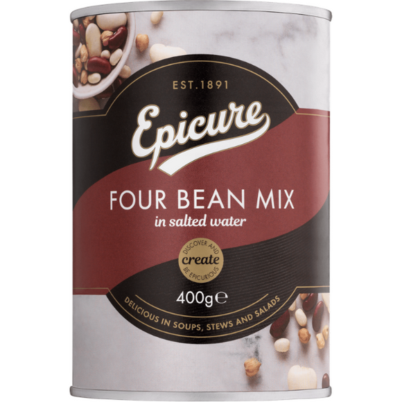 Epicure Four Bean Mix in Salted Water 400g
