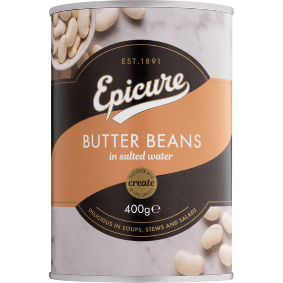 Epicure Butter Beans in Water 400g