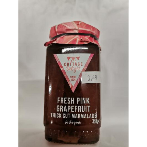 Cottage Delight Fresh Pink Grapefruit Thick Cut Marmalade