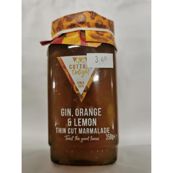 Cottage Delight Gin, Orange & Lemon Thin Cut Maramalade