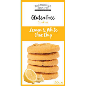 Farmhouse Gluten Free Lemon & White Choc Chip Cookies 150g