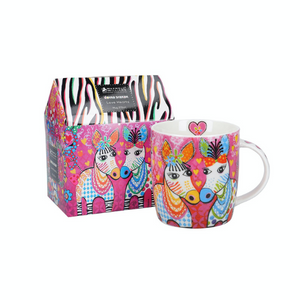 Maxwell Williams Love Hearts Zig Zag Zeb Mug 370ml