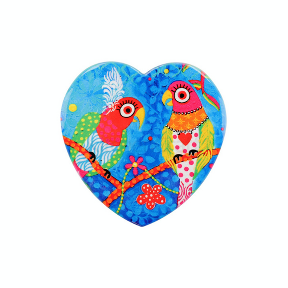 Maxwell Williams Love Hearts Rainbow Girl Ceramic Coaster