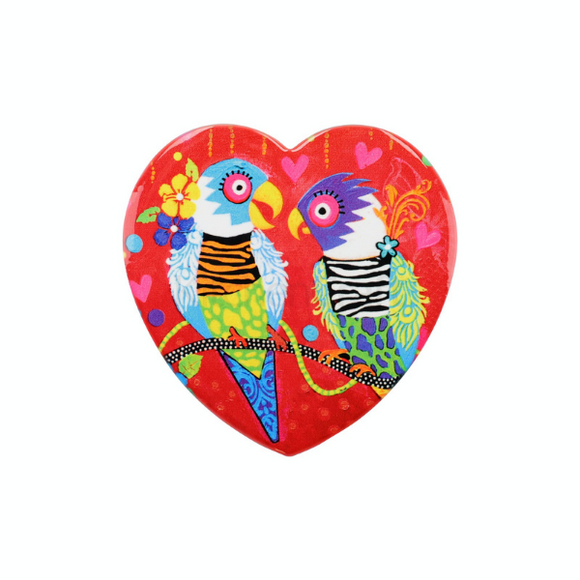 Maxwell Williams Love Hearts Tiger Tiger Ceramic Coaster