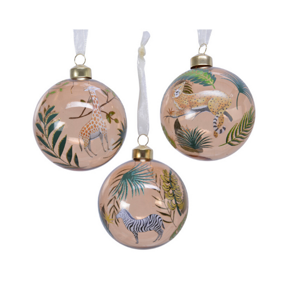 WILD EARTH ANIMAL GLASS BAUBLE COLLECTION (MIX B)