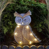 Wood Stone In-Lit Owl