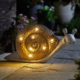 Wood Stone In-Lit Snail