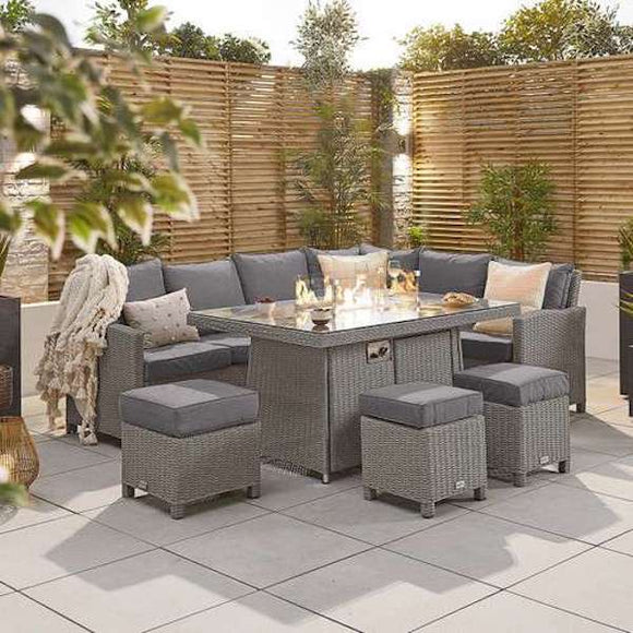Heritage Ciara Firepit Casual Dining Suite