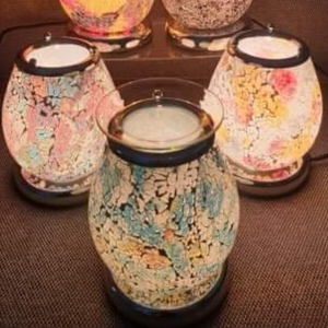 Electric Mosaic Wax Melt Touch Lamp