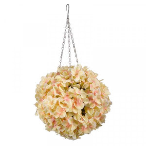 Artificial White Hydrangea Ball