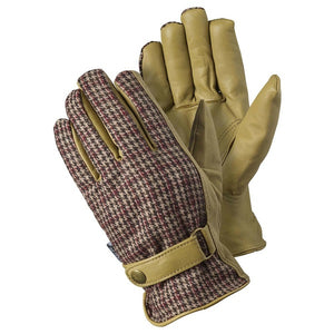 Leather Checked Glove - Large
