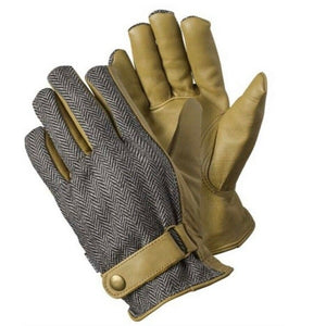 Leather Herringbone Glove - Large