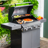 Grillstream Classic 4 Burner with Side Burner - Matt Grey