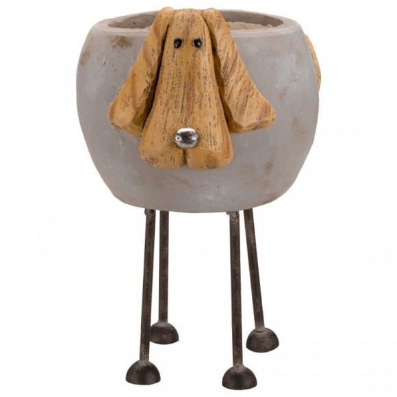 Woodstone Dog Planter